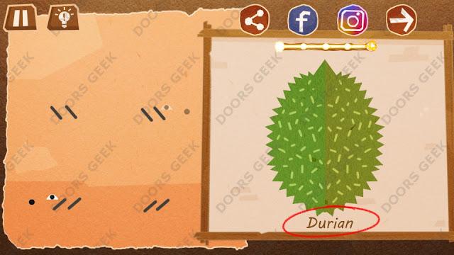 Chigiri: Paper Puzzle Novice Level 2 (Durian) Solution, Walkthrough, Cheats