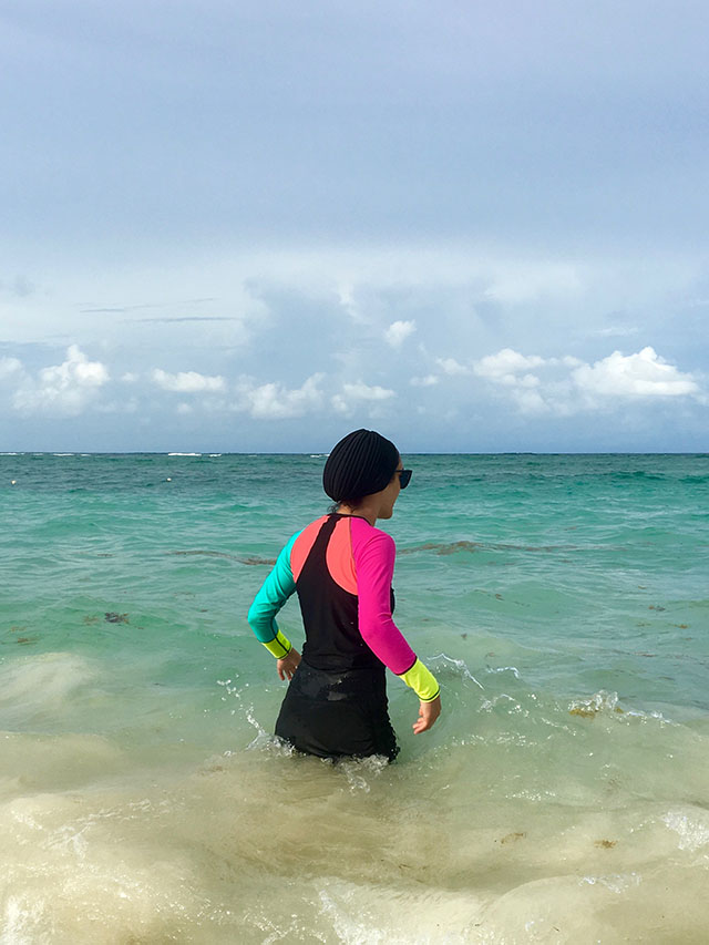 Modest Swimwear-Hijabi Swimsuit-Rash Guard-Coolibar-Dominican Republic-Modest Swimming-Modest Fashion