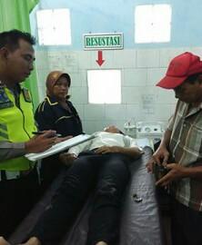 Korban tabrak lari saat dirawat di rumah sakit.