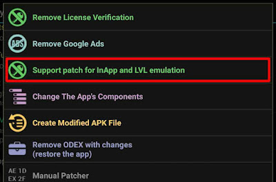Cara Menggunakan Fitur Support Patch for InApp And LVL Emulation pada Lucky Patcher