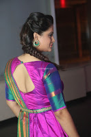 Shilpa Chakravarthy in Purple tight Ethnic Dress ~  Exclusive Celebrities Galleries 005.JPG