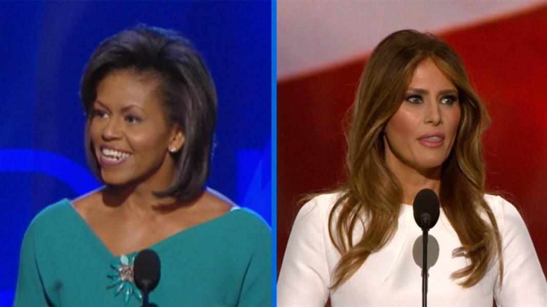 Melanie Trump Plagiarised Michelle Obamas 2008 Convention -7960