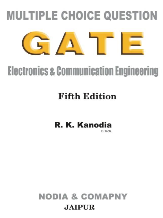 MCQ GATE ELECTRONICS & COMMUNICATION ENGINEERING
