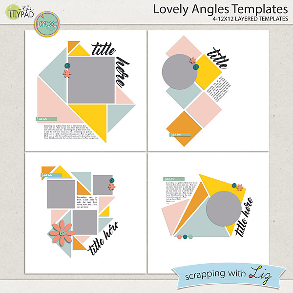 Digital Scrapbook Templates by Scrapping with Liz