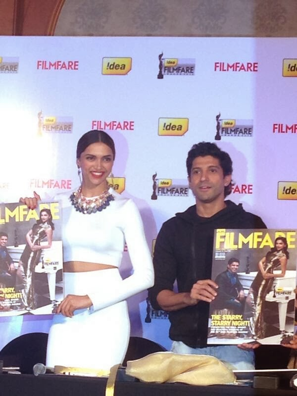 Deepika padukone and Farhan unveil the Idea Filmfare Awards special issue