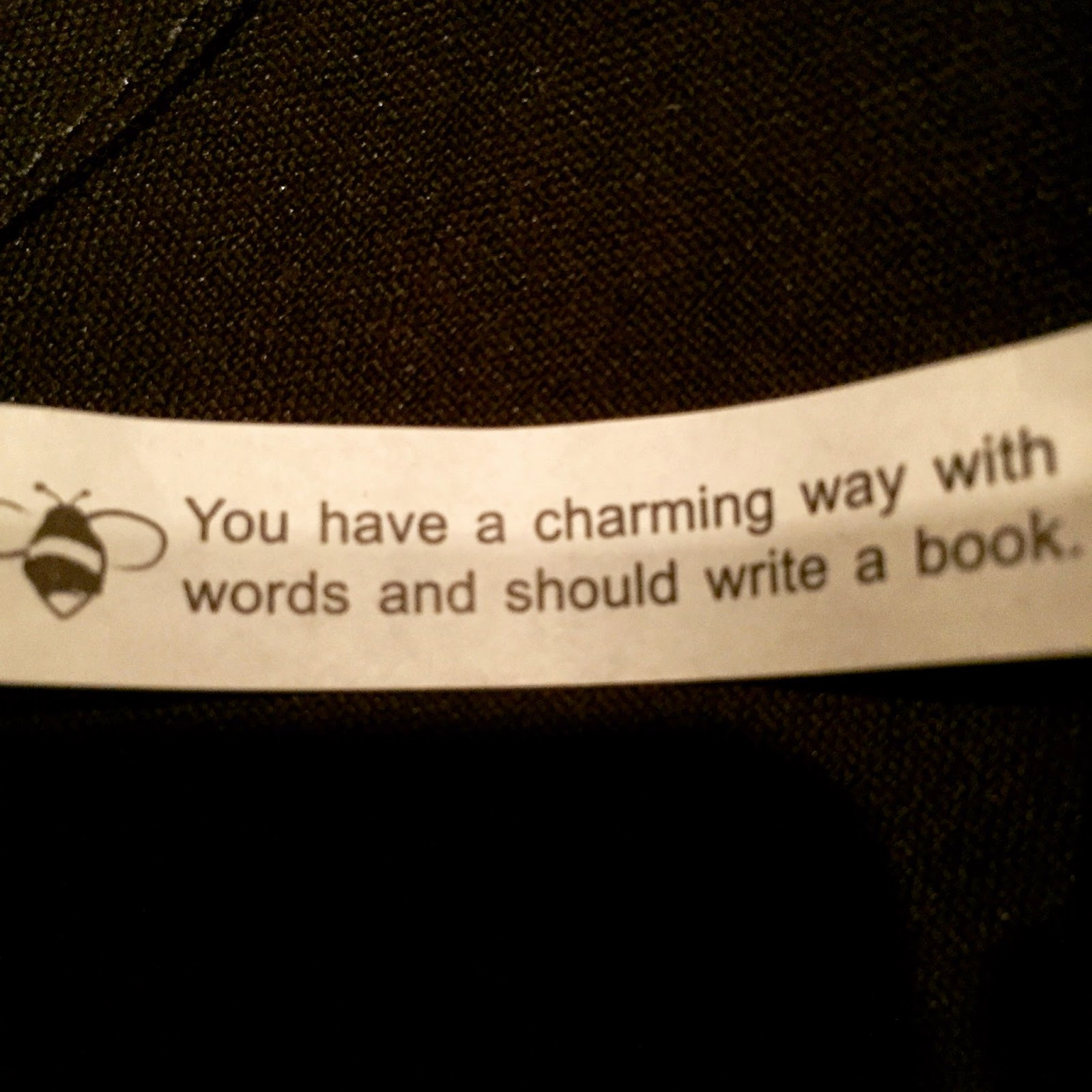 fortune cookie advice about writing a book