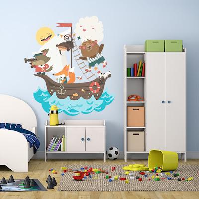 vinilo infantil barco pirata 3009
