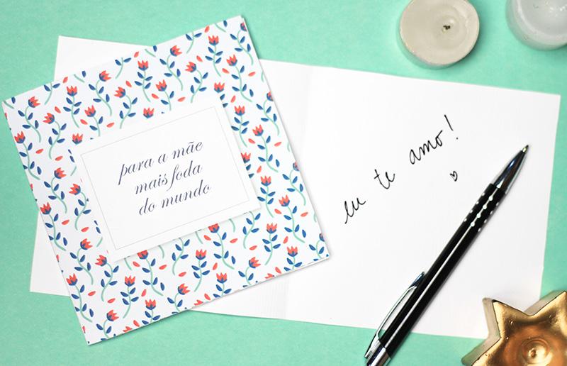 Cartão de dia das mães para baixar de graça e deixar o seu presente ainda mais lindo!