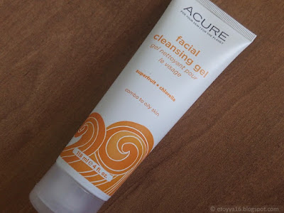 Acure Organics, Facial Cleansing Gel, SuperFruit + Chlorella Growth Factor