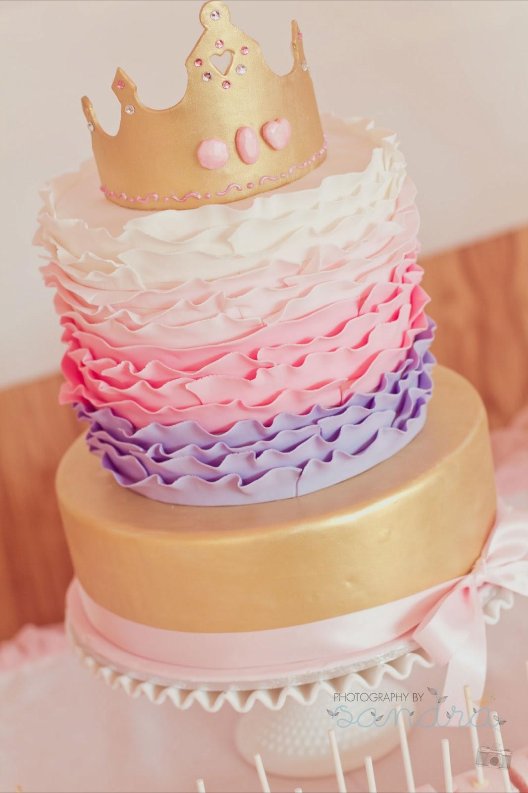 Girls Birthday Cakes Cards Princess