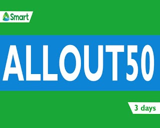 Smart ALLOUT50 – Unli all-net Text, Facebook, Call and Data for 3 Days