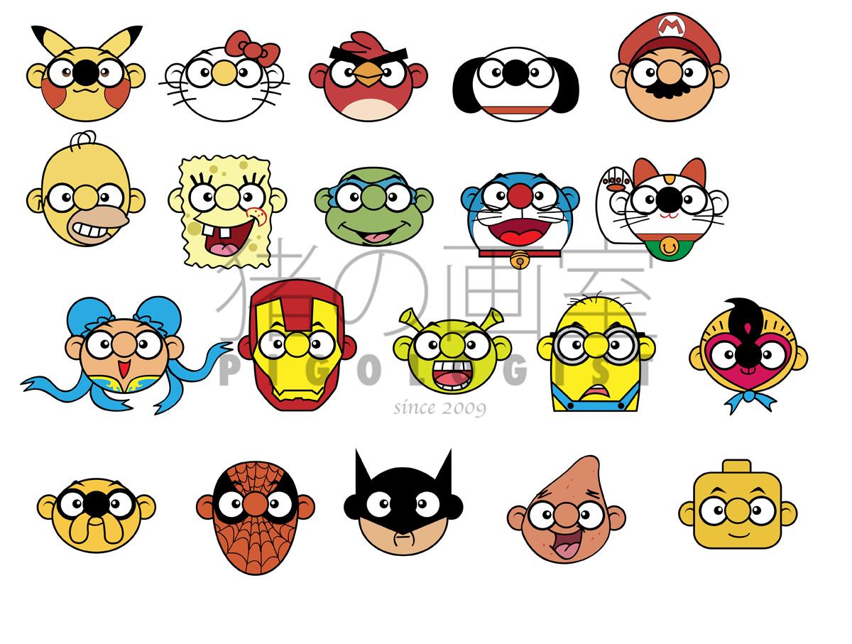 Character Design Icon : P i g o l s t 猪の画室 singapore illustration