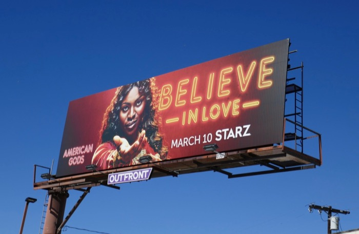 Believe in Love American Gods season 2 billboard