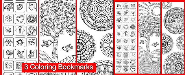 3 coloring bookmarks free printables