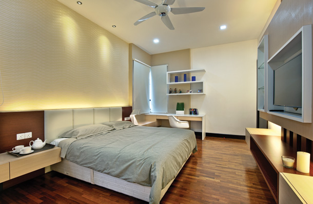 ambient lighting is achieved through direct indirect lighting in this bedroom image source ceiling ambient lighting