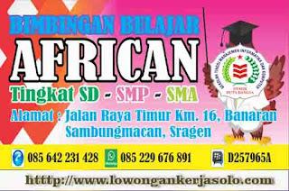 Lowongan Kerja Bimbingan Belajar African Sragen Lulusan SMK terbaru