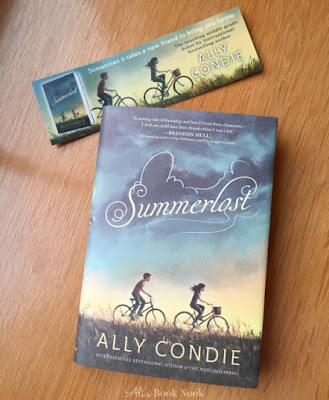 Ally Condie Summerlost Middle Grade Book and bookmark
