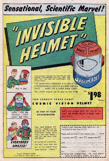 'Invisible Helmet' sold in 1950s comics to children.