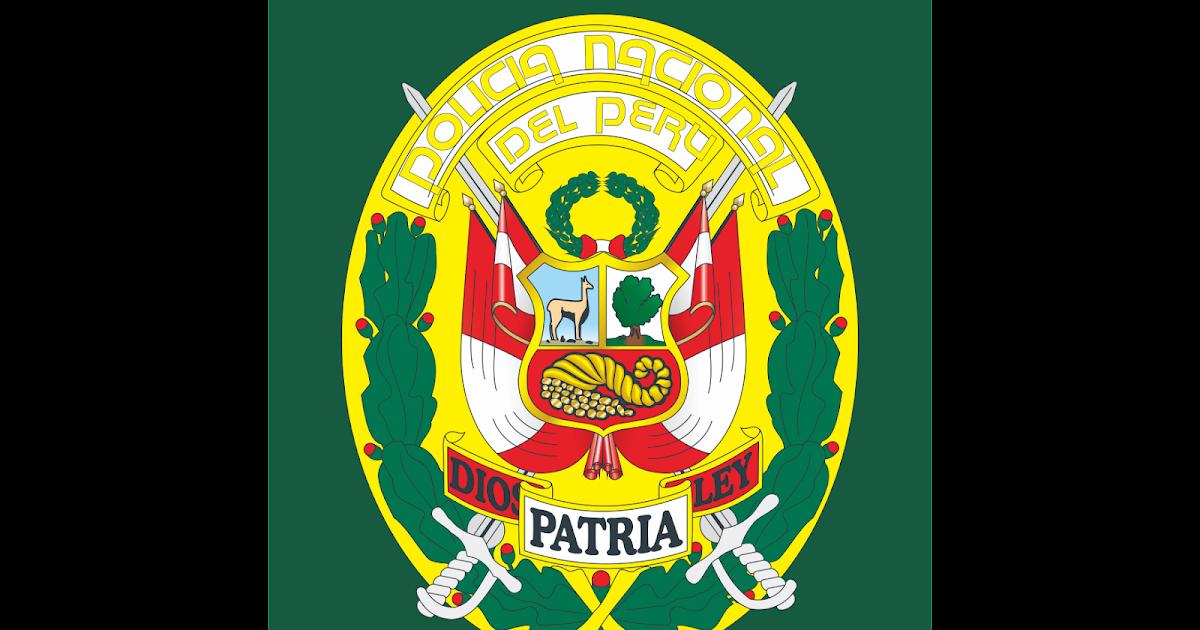 escudo policia nacional del peru logo vector~ format cdr, ai, eps