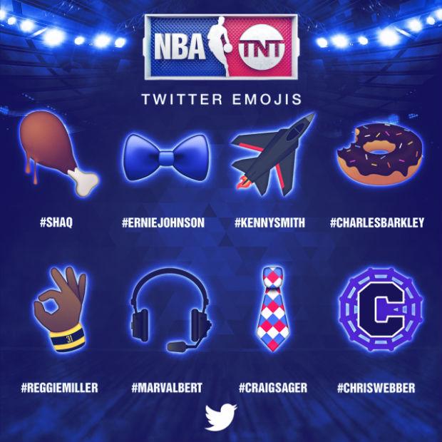 Les emoticones twitter des journalistes NBA de TNT