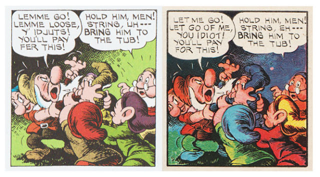From Snow White and the Seven Dwarfs, Sunday pages