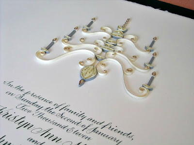 Marriage Certificate with Quilled Chandelier