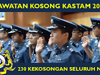 Jawatan Kosong di Jabatan Kastam DiRaja Malaysia - 230 Kekosongan Seluruh Negara