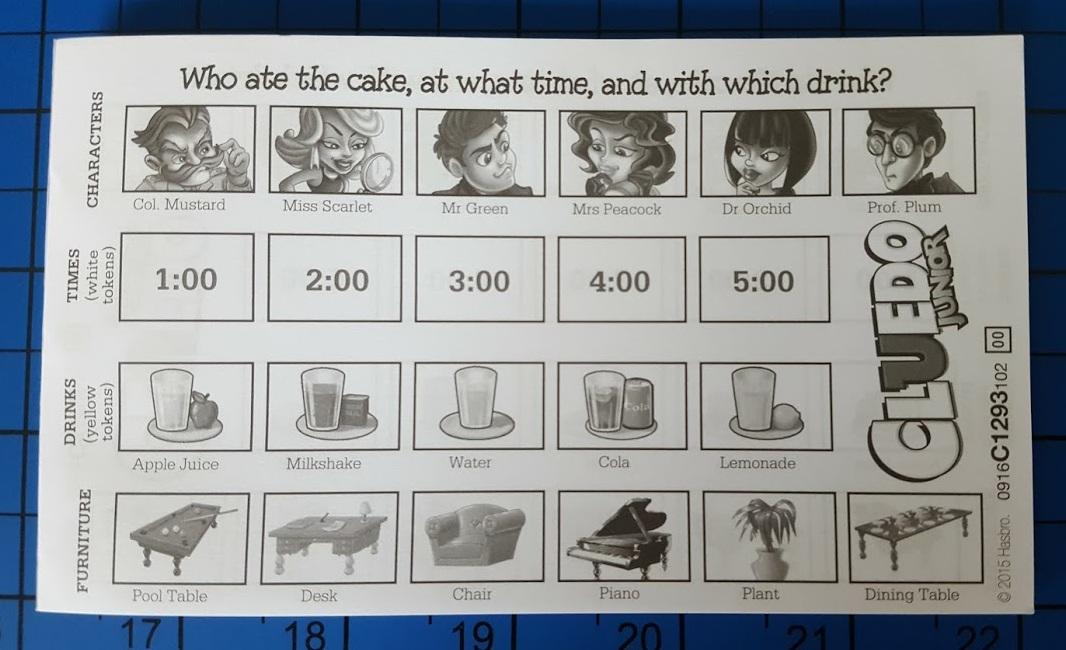The Brick Castle Hasbro Cluedo Junior Board Game Age 5
