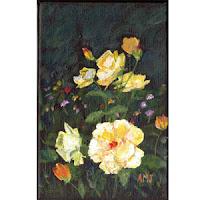 http://greenmonsterbrushstrokes.blogspot.com/p/yellow-flowers-on-black-background.html