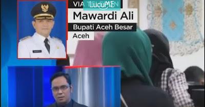Bupati Aceh Besar Diwawancara Soal Pramugari Berhijab Oleh Presenter Ini, Warganet Geram