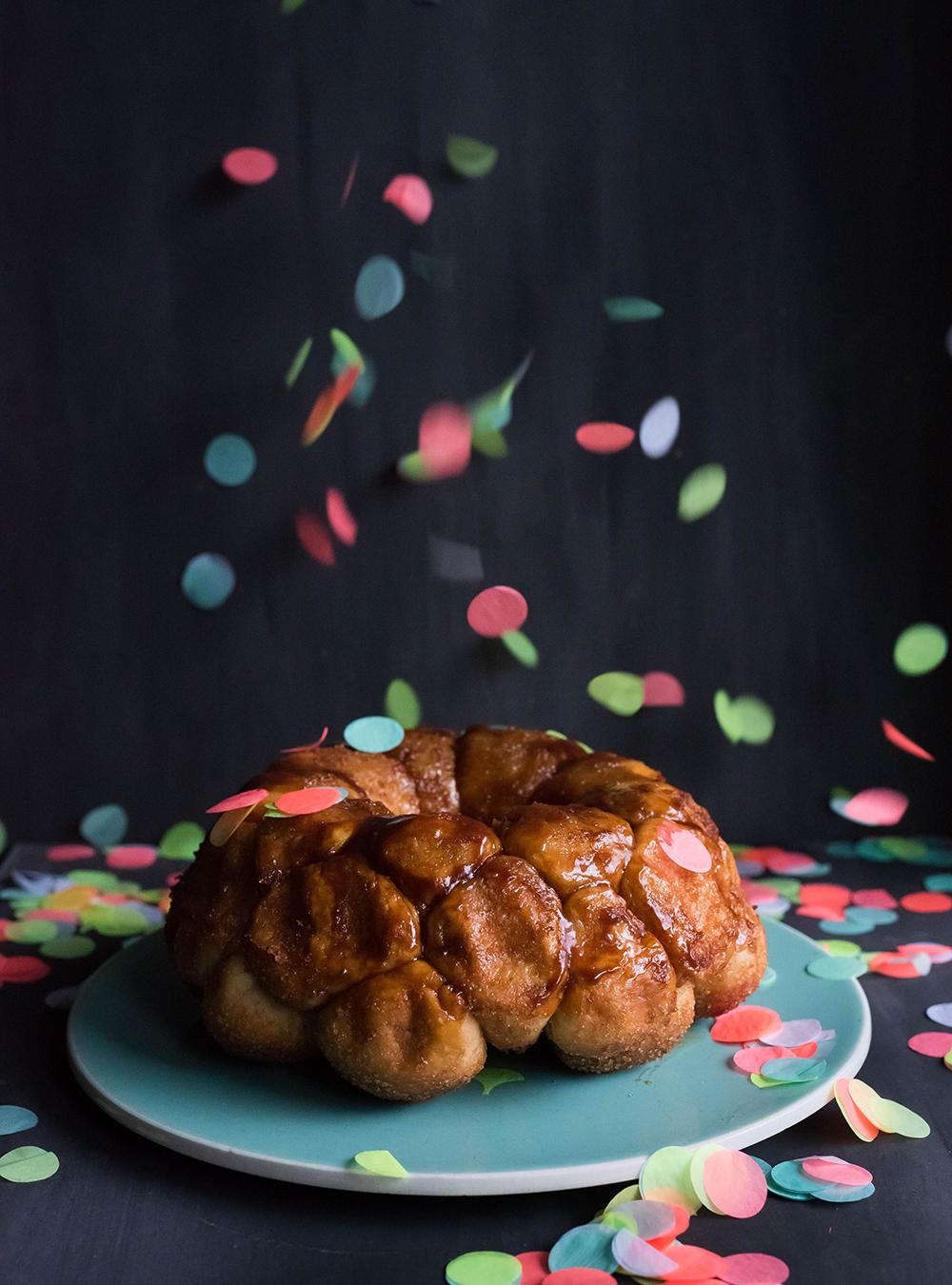 Karamell gefülltes Party Monkey Bread