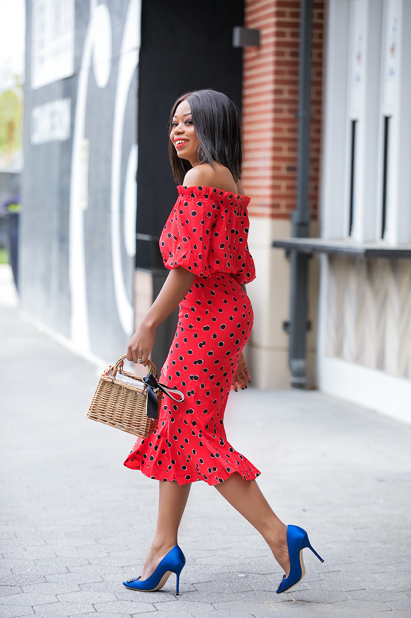 polka dot dress for mothers day, www.jadore-fashion.com
