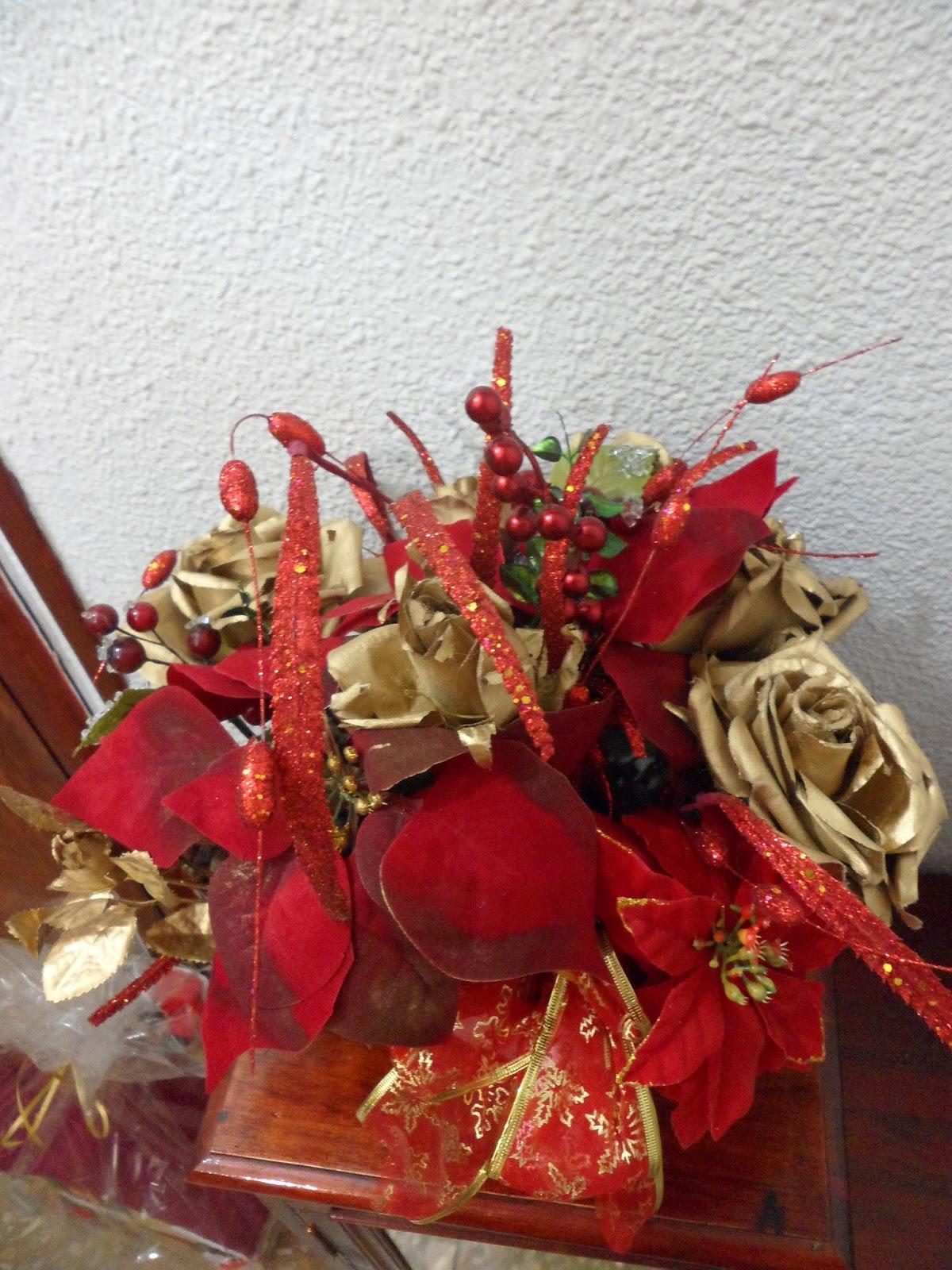 Mis manualidades centro de mesa para navidad for Centro mesa navidad manualidades