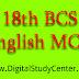 18th BCS English MCQ