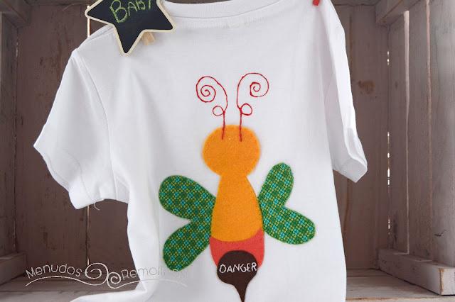 Camiseta avispa loca (trasera)