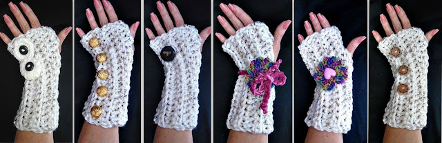 Karmel Fingerless Gloves & Legwarmers - Free Crochet Patterns