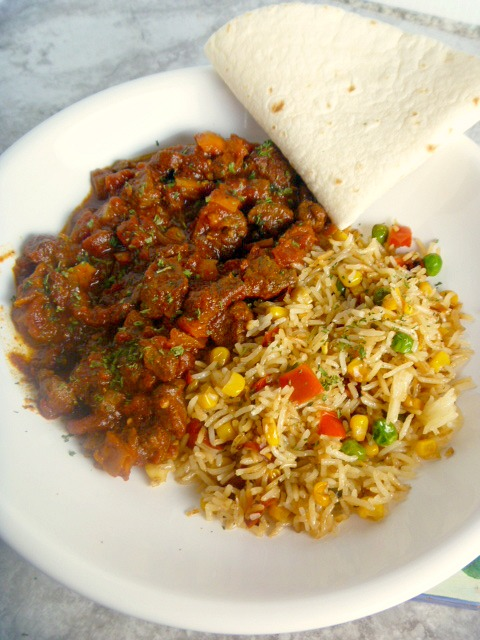 Steak Picado - A Mexican stew like dish that comforting and full of flavor.  Sunday Dinner worthy!  Slice of Southern