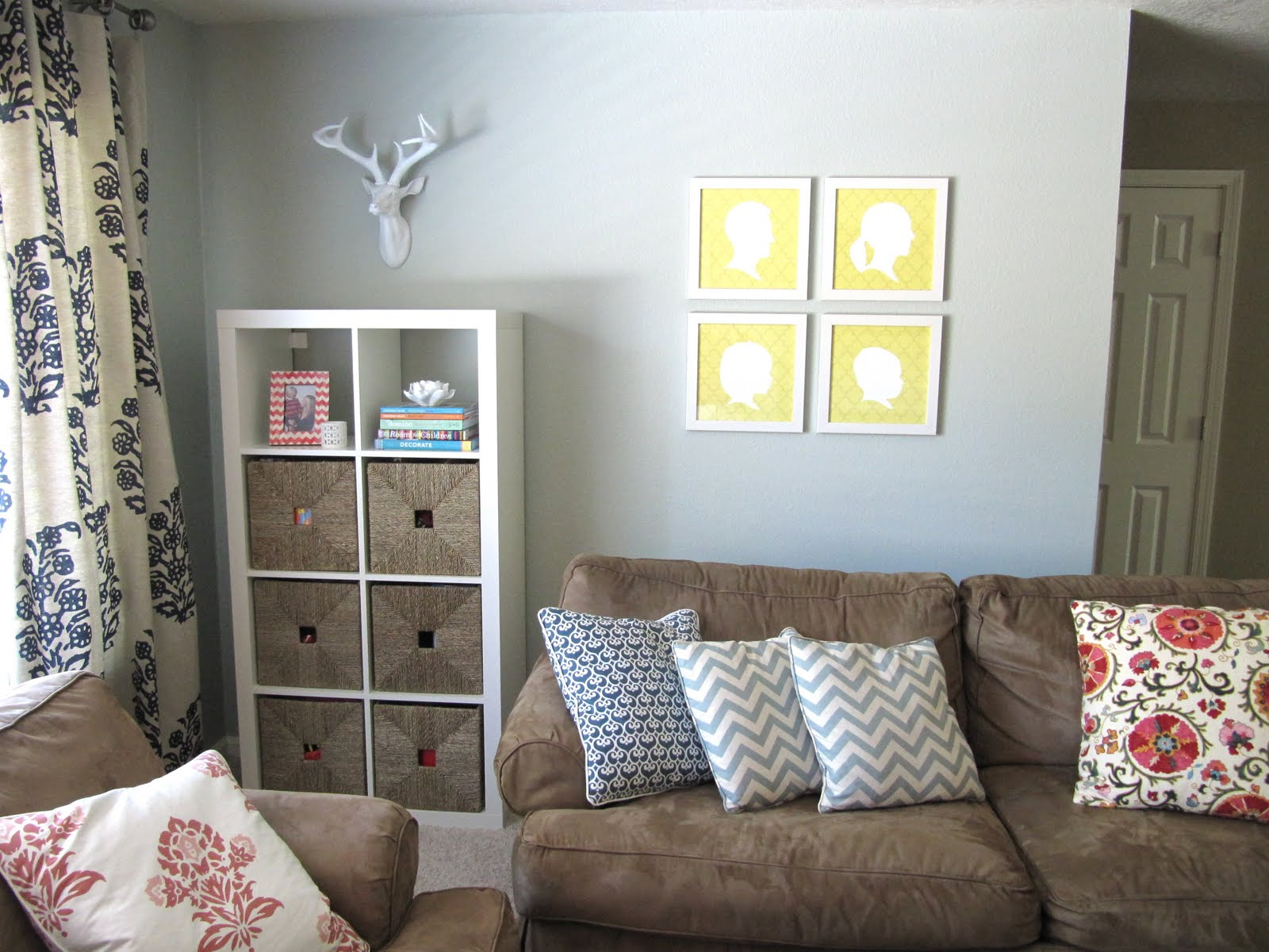 Living room e design before and after