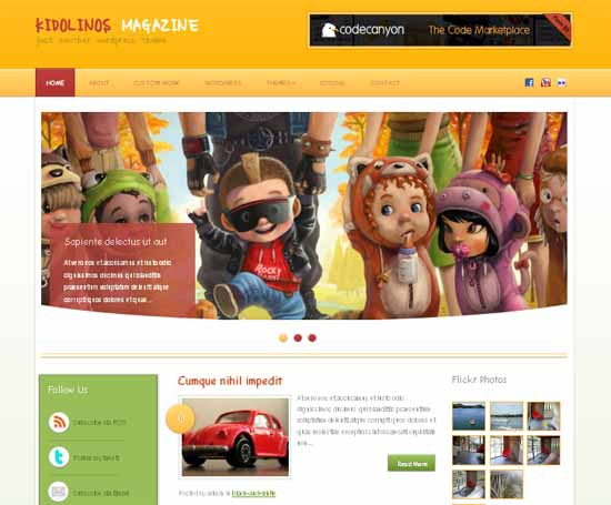 Free Kidolinos Magazine - Kids Wordpress Themes