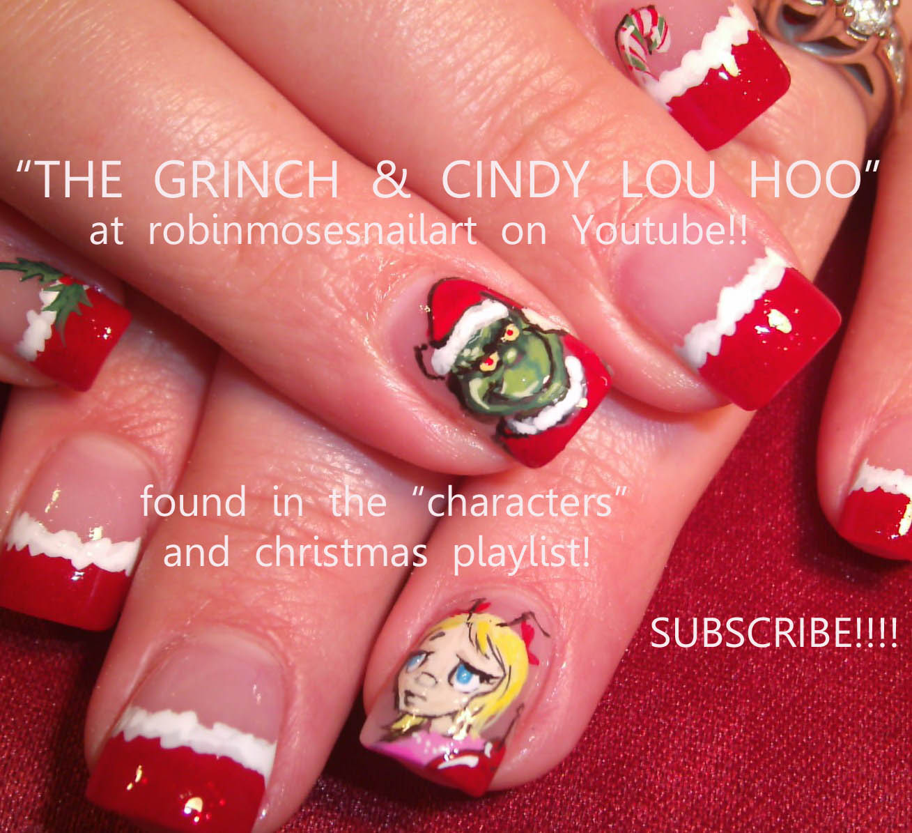 the grinch nails, the grinch nail art, christmas grinch nail, new