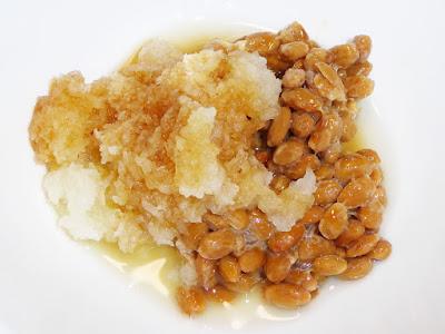 納豆に旭ポンズ(ポン酢しょうゆ)+大根おろし