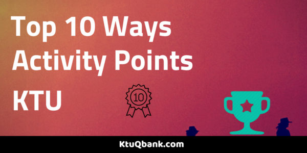 Top 10 Ways To Earn Activity Points In KTU (2)