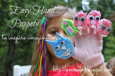 Easy Hand Puppets - Green Owl Art