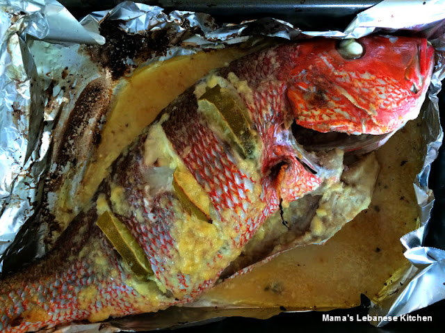 An Easy to Make Baked Fish Recipe Featuring Red Snapper Baked with a Garlic Lemony Marina Easy Baked Fish With Garlic Lemon Marinade Recipe