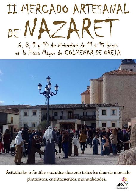 Mercado Artesanal de Nazaret en Colmenar de Oreja