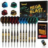 Ignat Games Steel Tip Darts Mega Blast, 12 Pack