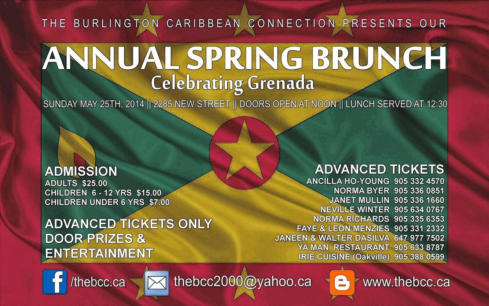 The Burlington Caribbean Connection: April 2014
