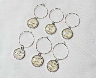 the great gatsby wine glass charms set handmade domum vindemia daisy buchanan tom myrtle wilson nick carraway jordan baker