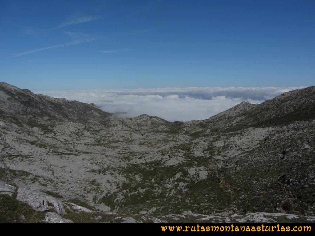 Ruta Ercina, Jultayu, Cuvicente: Mar de nubes