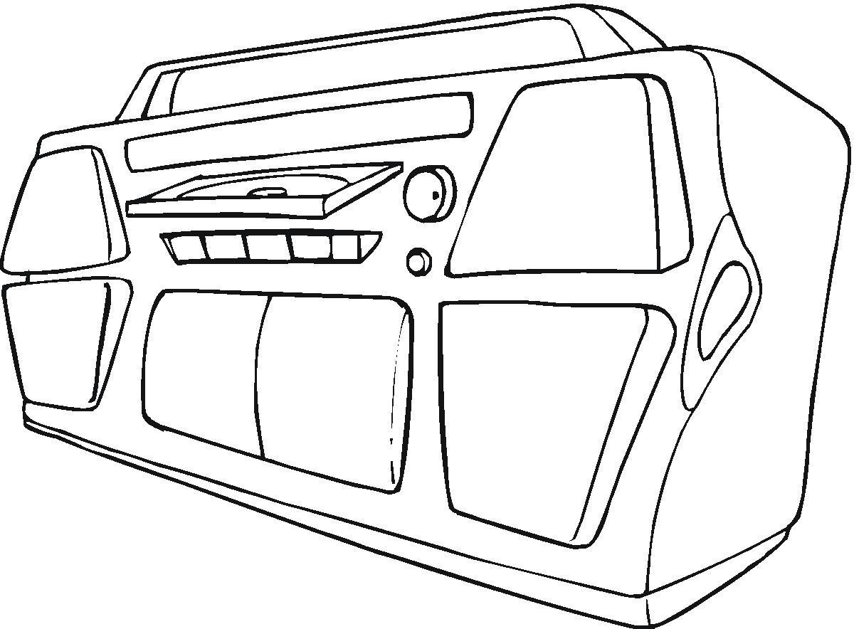 Radio Mp3 E Djs Som Forte Desenhos Preto E Branco Para